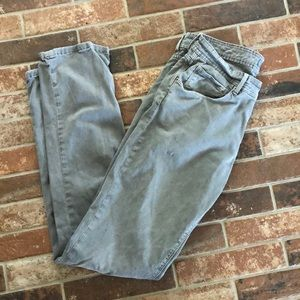 Saks 5th Avenue straight leg 5 pocket pant grey 34